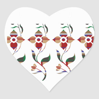 BLUMENmuster: Strampler-Blumen Herz-Aufkleber