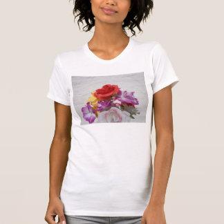 Blumenmuster T-Shirt