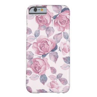 Blumenmuster. Vintage Rosen Barely There iPhone 6 Hülle