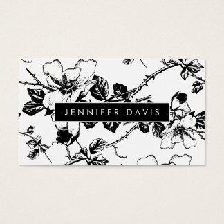 Blumenmuster-Visitenkarte Visitenkarte