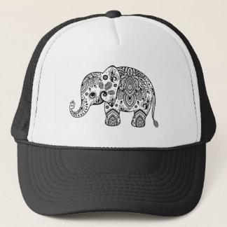 Blumenniedliche Elefant-Illustration paisleys Truckerkappe