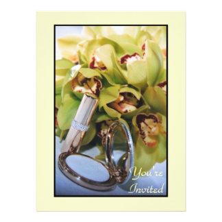 Blumenorchideen-Brautparty-Einladung