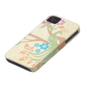 Blumenpfau-BlackBerry des stilvollen Juweltones iPhone 4 Etuis