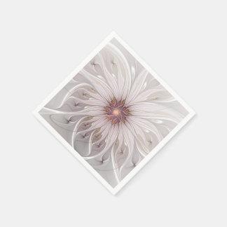 Blumenphantasie-abstrakte Fraktal-Kunst Servietten