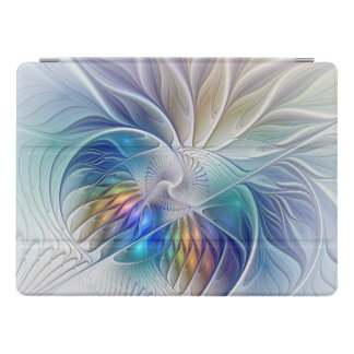 Blumenphantasie, bunte abstrakte Fraktal-Blume iPad Pro Hülle