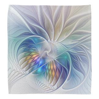 Blumenphantasie, bunte abstrakte Fraktal-Blume Kopftuch