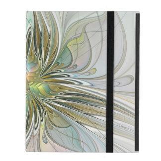 Blumenphantasie-moderne Fraktal-Kunst-Blume mit iPad Hülle