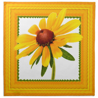 Blumenphotographie - Schwarz-mit Augen Susan Stoffserviette