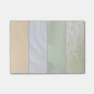 Blumenplatten in den Regenbogen-Farben Post-it Klebezettel