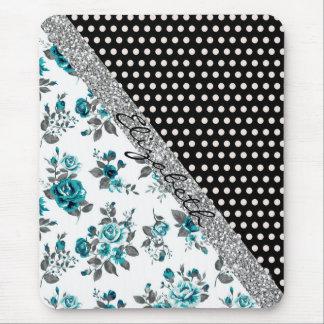 Blumenpolkapunkte der coolen niedlichen trendy mousepads