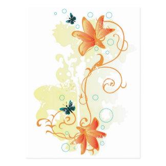 Blumenpostkarte Postkarte