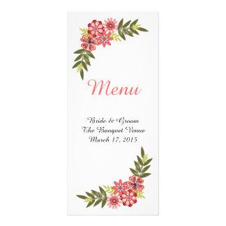 Blumenrahmen-Rosa-Hochzeits-Menü-Gestell-Karte Werbekarte