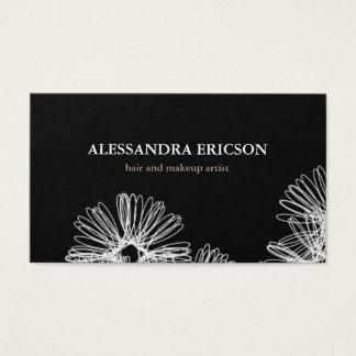 Blumenraserei-Schwarzweiss-Visitenkarte Visitenkarte