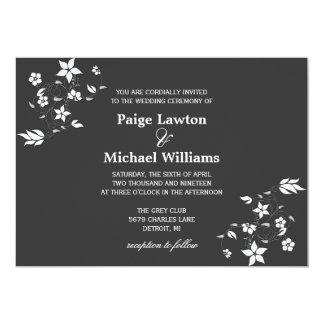 Blumenreben der Hochzeits-Einladungs-  Einladung