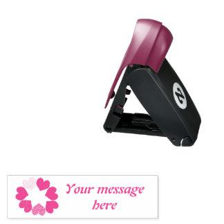 Blumenregenbogen-Liebe-Herz-kundenspezifische Taschenstempel