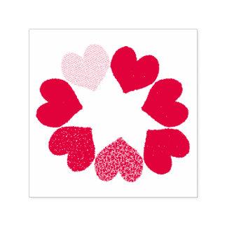 Blumenregenbogen-Liebe-Herz-Selbst, der Briefmarke Permastempel