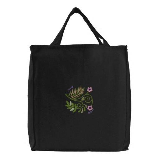 BlumenrollenHoodie Bestickte Einkaufstasche