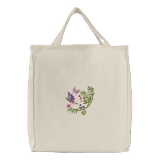 BlumenrollenHoodie Tasche