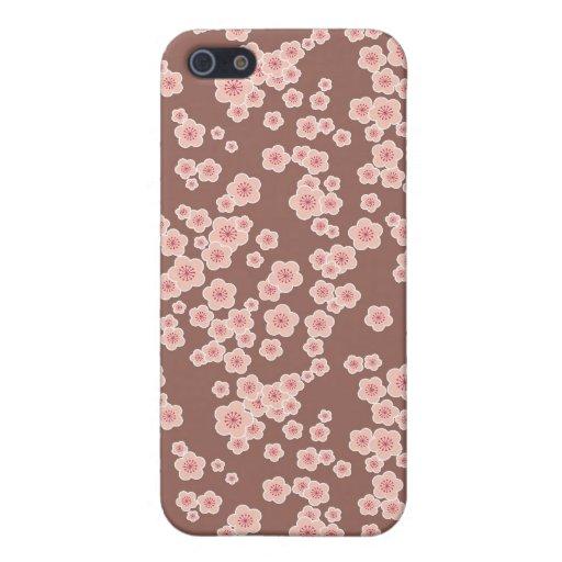 Blumenrosa Blumen der kirschblüten iPhone 5 Etuis
