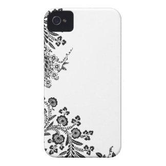 BlumenRosenniederlassungs-Silhouette iPhone 4S Fal iPhone 4 Case-Mate Hüllen