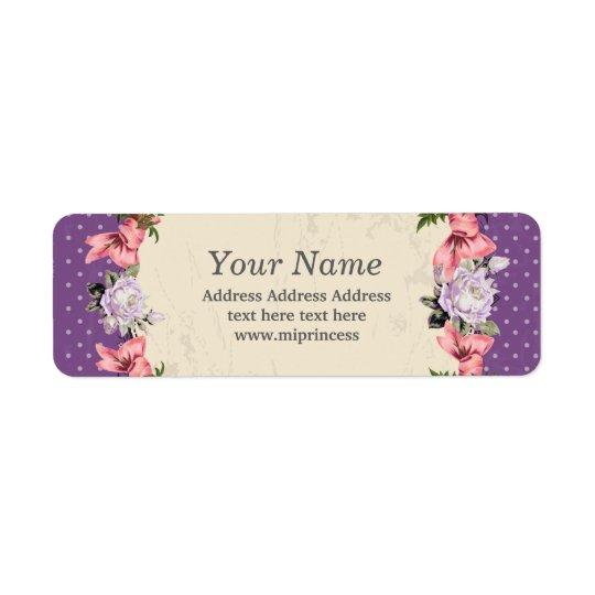 BlumenRücksendeadresseaufkleber Rückversand-Adressaufkleber