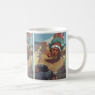 Blumenschein, Taos gebürtiges Ureinwohner-Porträt Kaffeetasse
