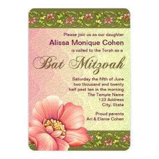 Blumenschläger Mitzvah 12,7 X 17,8 Cm Einladungskarte