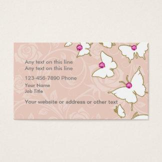 Blumenschmetterling Bling Art Visitenkarte