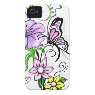 Blumenschmetterling Case-Mate iPhone 4 Hülle