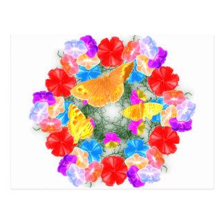 Blumenschmetterling Postkarte