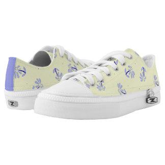 Blumenschuhe des gelben Singrün-Kobalt Niedrig-geschnittene Sneaker