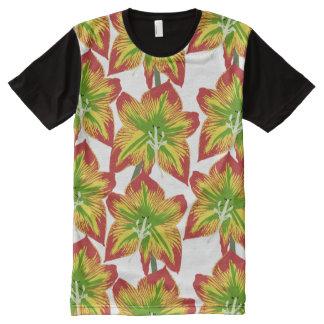 BlumenShirt der designer-modernen Männer Kleider T-Shirt Mit Komplett Bedruckbarer Vorderseite