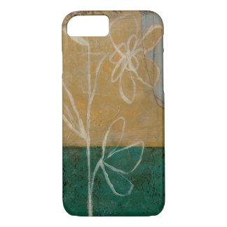 Blumenskizze mit Wildblume und Pflanzen iPhone 8/7 Hülle
