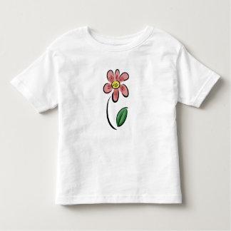 Blumenskizzegekritzel des niedlichen kleinkind t-shirt