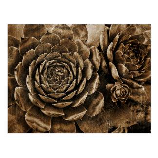 Blumenskulptur Postkarte