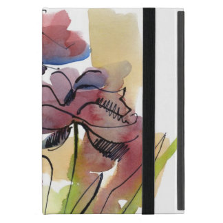 Blumensommerentwurf mit handgemalten abstrakten 2 iPad mini etuis