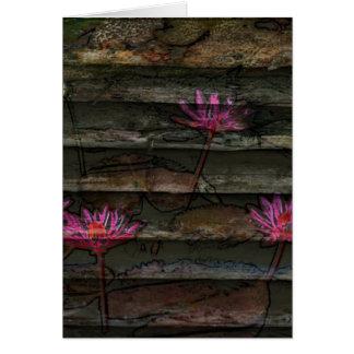 Blumensteinnatur der braunen grauen rosa grußkarte