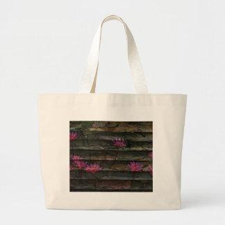 Blumensteinnatur der braunen grauen rosa jumbo stoffbeutel