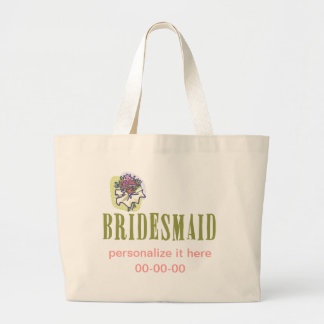 Blumenstrauß-Brautjungfer Leinentasche
