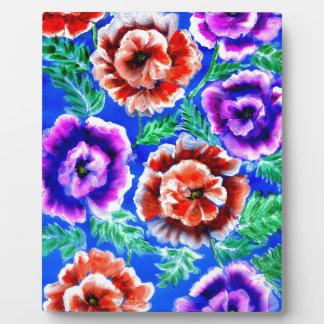 Blumenstrauß der Blumen Fotoplatte