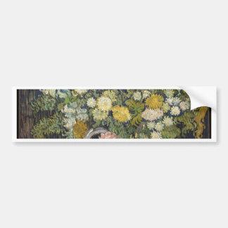 Blumenstrauß der Blumen in einem Vase - Van Gogh Autoaufkleber