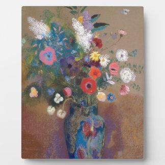 Blumenstrauß der Blumen - Odilon Redon Fotoplatte