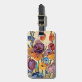 Blumenstrauß der bunten Blumen Gepäckanhänger