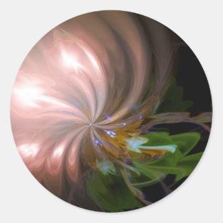 Blumenstrauß der Lichter Runder Aufkleber