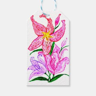 Blumenstrauß der Lilien-Blumen Geschenkanhänger