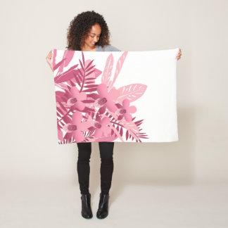 Blumenstrauß der rosa tropischen Pflanzen Fleecedecke