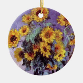 Blumenstrauß der Sonnenblumen durch Claude Monet, Keramik Ornament