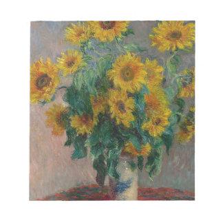 Blumenstrauß der Sonnenblumen Notizblock