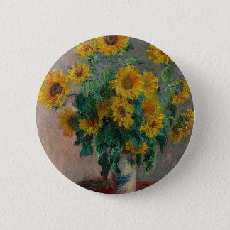 Blumenstrauß der Sonnenblumen Runder Button 5,1 Cm