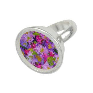 Blumenstrauß des Farbabstrakter Foto Ringe